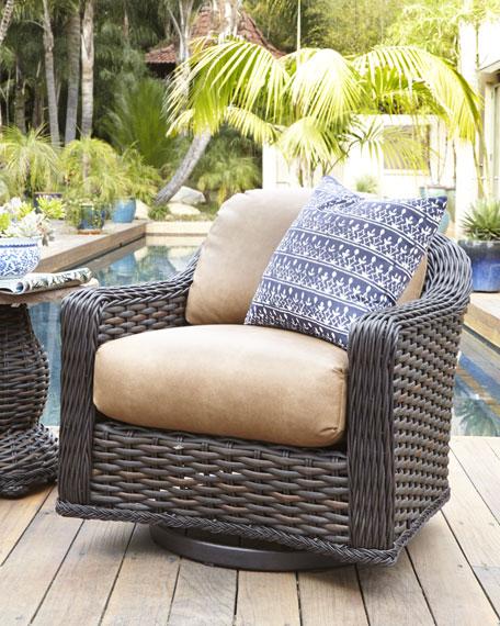 Madison Dark Outdoor Swivel Glider Lounge Chair