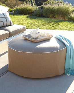 Elena Outdoor Ottoman/Coffee Table