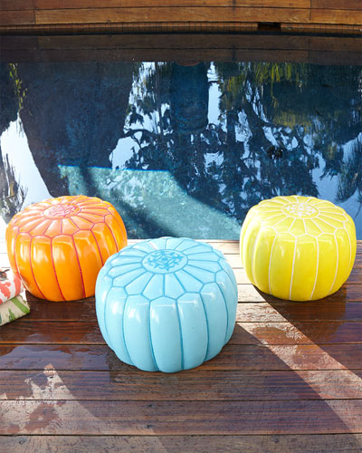 Outdoor Moroccan Pouf