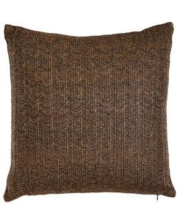 Aviva Stanoff Brown Metallic Stripe Pillow