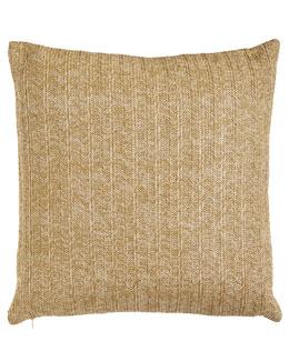 Aviva Stanoff Gold Metallic Stripe Pillow