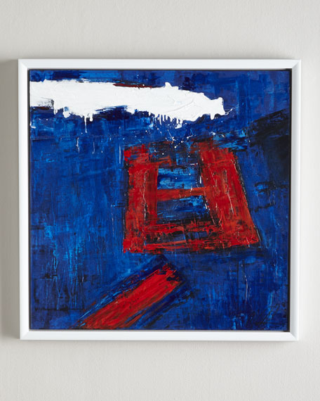 Red Square Abstract Giclee Print