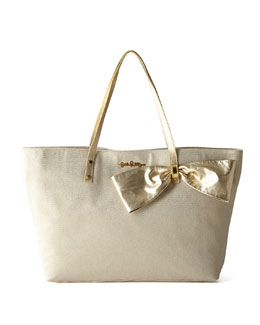 Lilly Pulitzer Gold Brier Tote