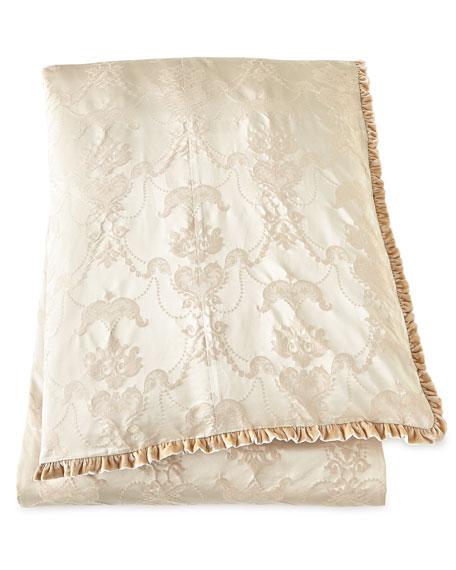 Queen Le Creme Maison Damask Duvet Cover