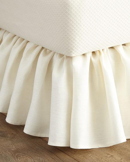 Callisto Home Queen Imperia Linen Dust Skirt