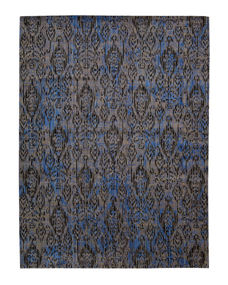 Moroccan Indigo Rug, 5'3