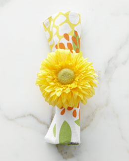 Four Chrysanthemum Napkin Rings
