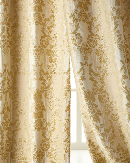 "Two 50""W x 96""L Antoinette Curtains"
