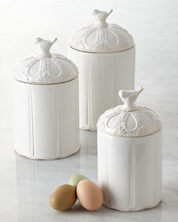 Mud Pie Three-Piece Bird Canister Set