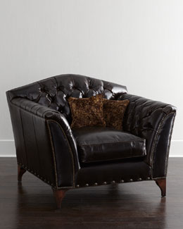 Old Hickory Tannery Liberty Creek Collection Leather Club Chair
