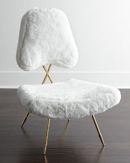 Jonathan Adler Maxime Shearling Lounge Chair