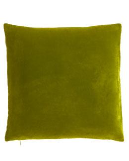 """Dransfield & Ross Lime Velvet Pillow, 18""""Sq."""