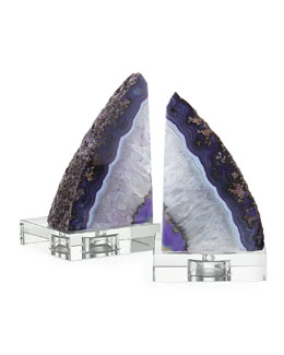 Purple Geode Bookends