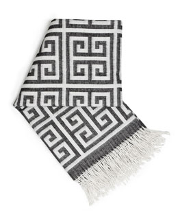 Jonathan Adler Greek-Key Alpaca Throw