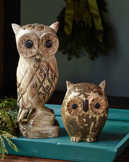 Two Wood Owls