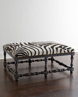 NM EXCLUSIVE Zebra-Print Hairhide Bench