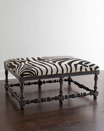 Luggage travel Leopard print bench