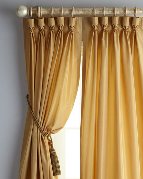 "Each 20""W x 96""L Pinch-Pleat Kate Curtain"