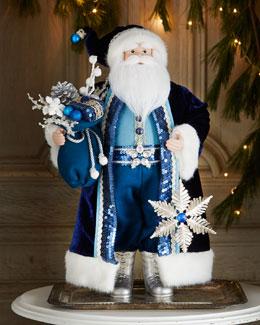 """Blue 20.5""""T Santa"""