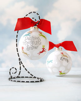 Coton Colors Dashing Through The Snow Personalized Christmas Ornament