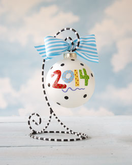 Coton Colors 2014 Personalized Annual Christmas Ornament