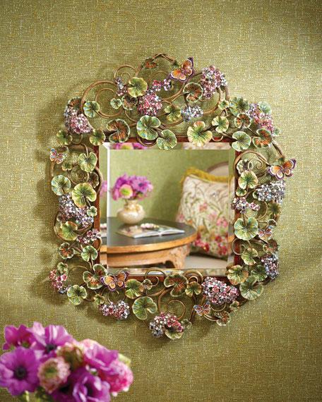 Corlander Floral Scroll Wall Mirror