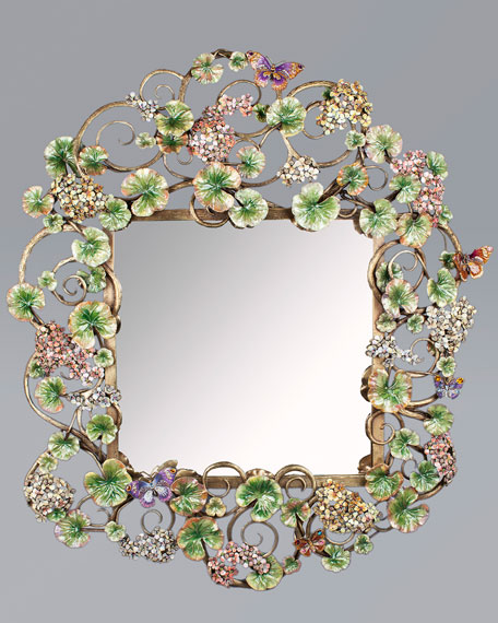 Corlander Floral Scroll Wall Mirror