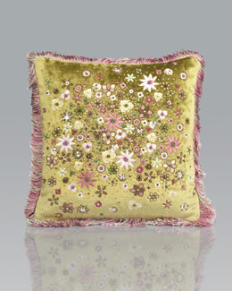 Jay Strongwater Mille Fiori PIllow