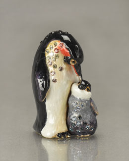 "Jay Strongwater ""Marlow and Olive"" Penguins Mini Figurine"