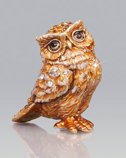 Jay Strongwater Bill Owl Mini Figurine