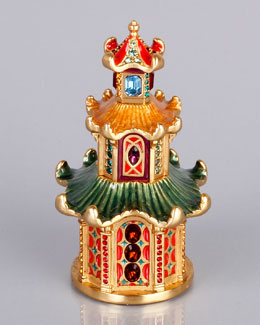 Jay Strongwater Triple Pagoda Box