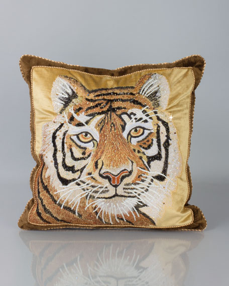 Jay Strongwater Tiger Pillow 18 Quot Sq