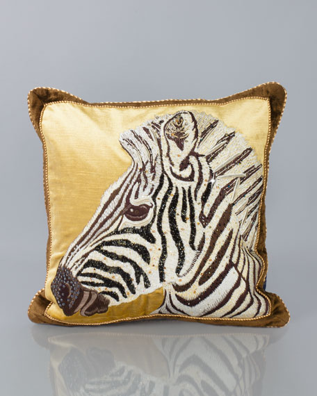 Jay Strongwater Zebra Pillow 18 Quot Sq