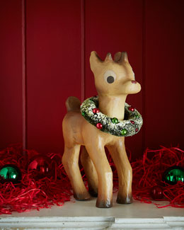 Bethany Lowe Retro Red-Nosed Reindeer