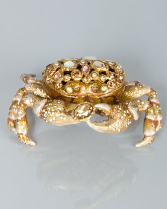 Jay Strongwater Gavin Bejeweled Crab Box
