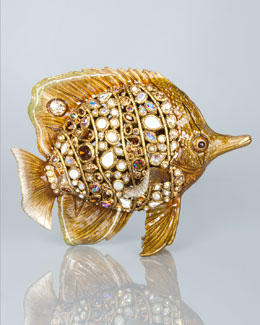 Jay Strongwater Weston Bejeweled Butterfly Fish Figurine