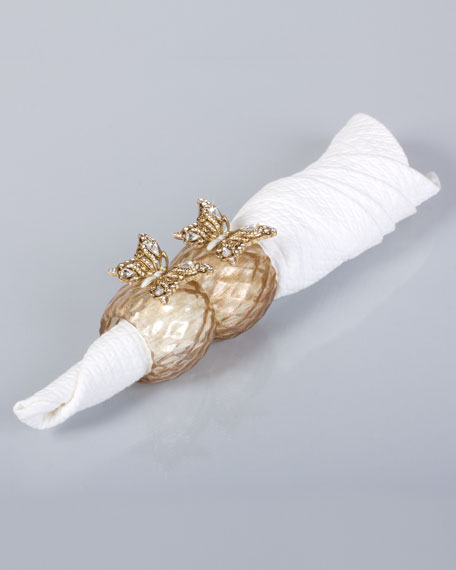 Two Iris Butterfly Napkin Rings