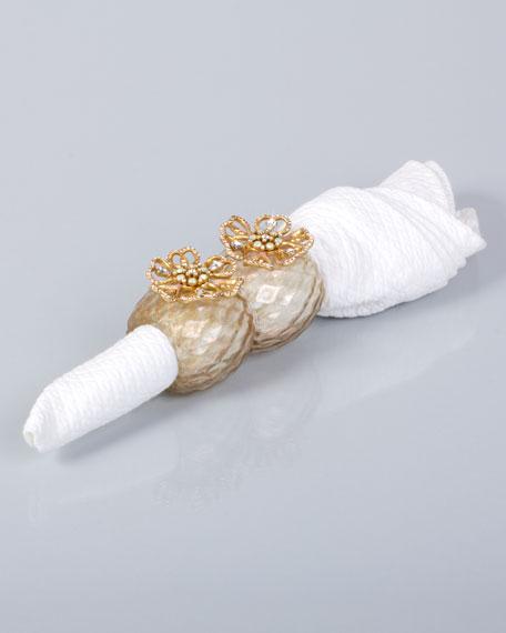 Two Emma Flower Napkin Rings