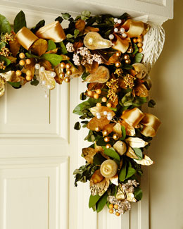 Gold  6' Christmas Garland