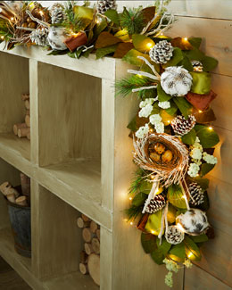 Woodland Christmas 6' Garland