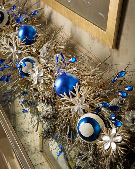 Blue 6' Christmas Garland