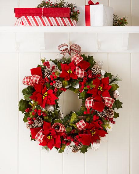 "Classic 28"" Christmas Wreath"