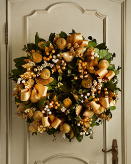 "Golden 30"" Christmas Wreath"