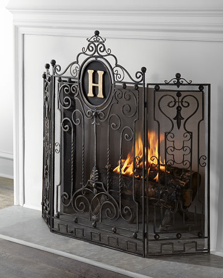 wooden fireplace screens.  Personalized Fireplace Screen