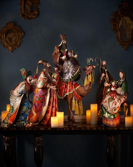 Five Piece Metal Nativity Set