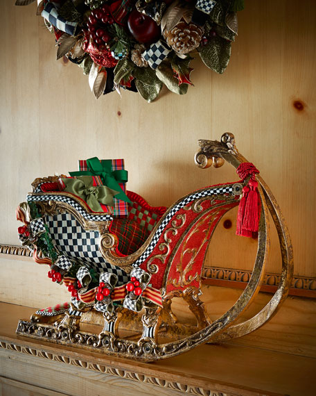 mackenzie childs santas sleigh - Decorative Christmas Sleigh Sale