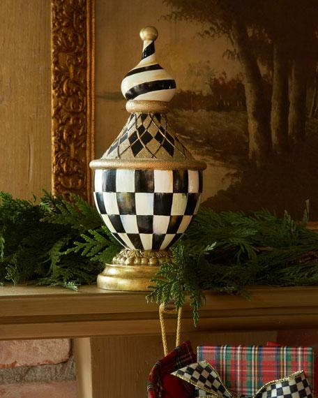 Mackenzie Childs Tuxedo Christmas Stocking Hook