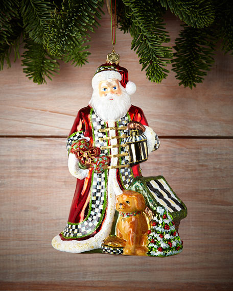 mackenzie childs santas best friend christmas ornament