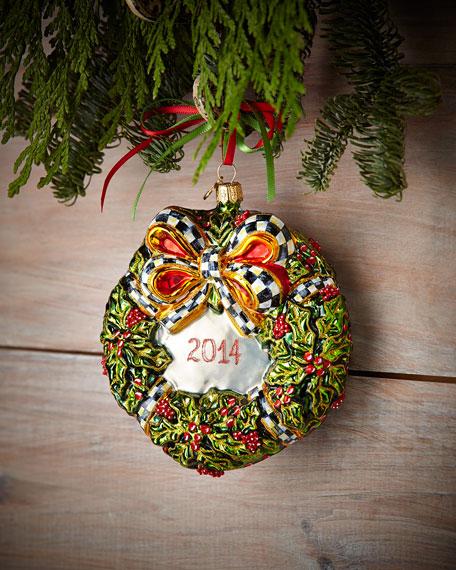 MacKenzie-Childs 2014 Wreath Christmas Ornament