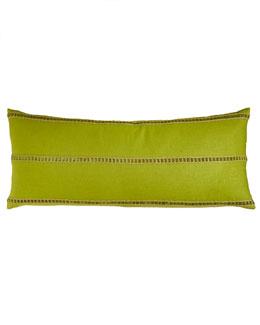 "Traditions Linens Kiwi-Green Pillow, 15"" x 36"""